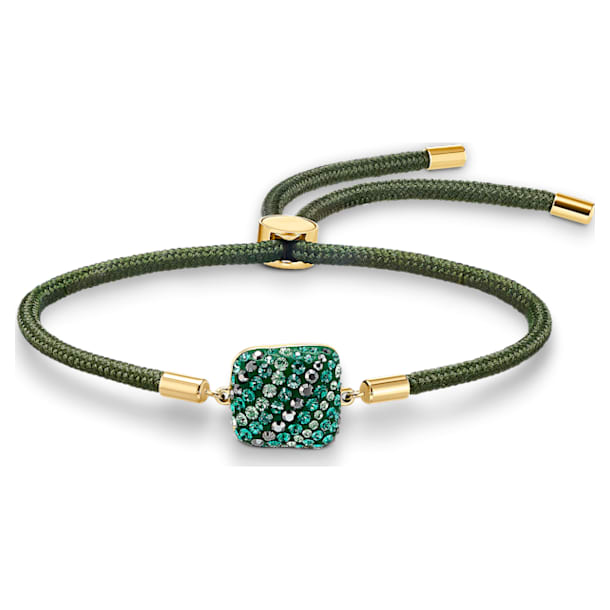 Pulsera Swarovski Power Collection Earth Element, verde, baño tono oro - Swarovski, 5558350