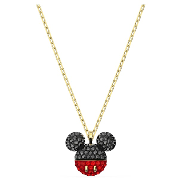 Mickey 鏈墜, 黑色, 鍍金色色調 - Swarovski, 5559176