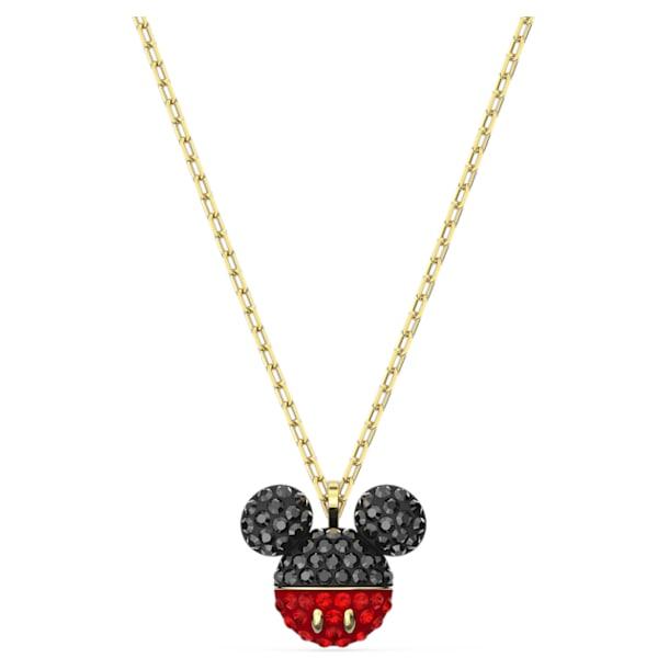 Pandantiv Mickey, negru, placat în nuanță aurie - Swarovski, 5559176