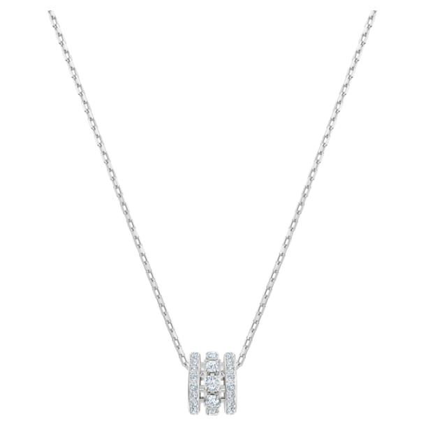 Further Pendant, White, Rhodium plated - Swarovski, 5559259