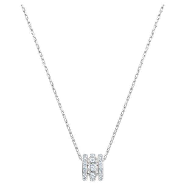 Further Подвеска, S, Белый кристалл, Родиевое покрытие - Swarovski, 5559259
