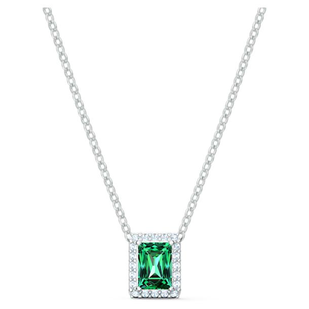 Angelic Rectangular Necklace, Green, Rhodium plated - Swarovski, 5559380