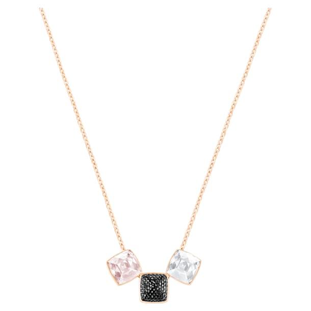 Collar Glance, colores claros, baño tono oro rosa - Swarovski, 5559862