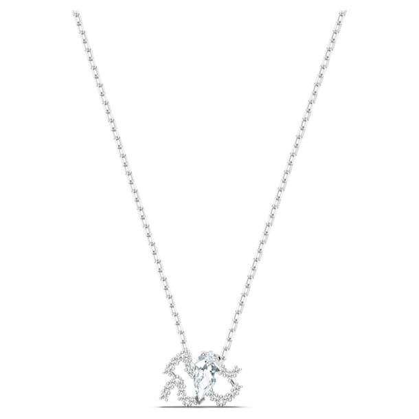Wisiorek Zodiac II, Biały, Wykończenie z różnobarwnych metali - Swarovski, 5561421