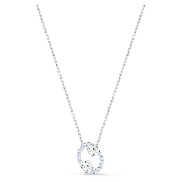 Zodiac II pendant, Cancer, White, Mixed metal finish - Swarovski, 5561422