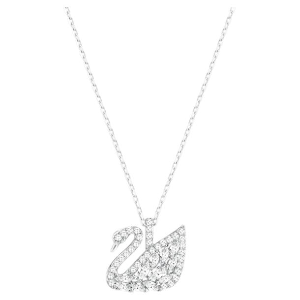 Swan Lake 鏈墜, 白色, 鍍白金色 - Swarovski, 5561477