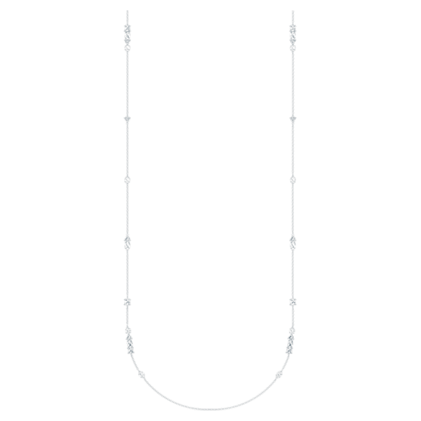 Tennis Deluxe Mixed Strandage, White, Rhodium plated - Swarovski, 5562083