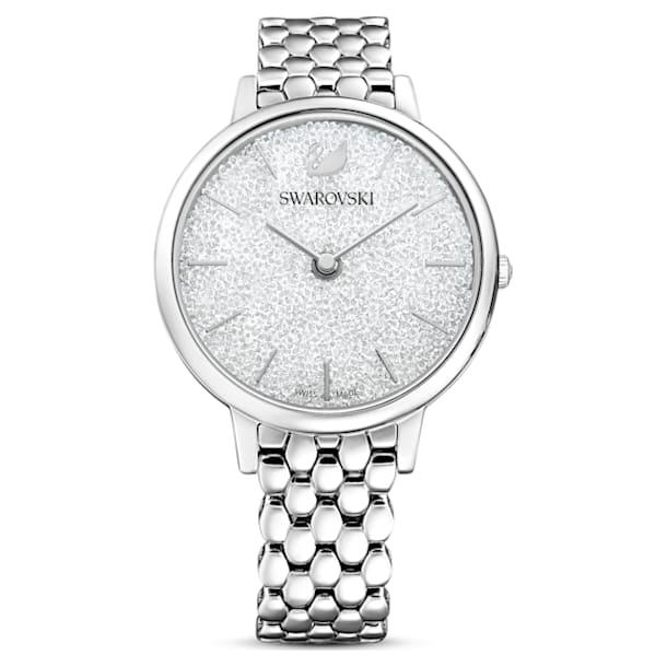 Crystalline Joy Watch, Metal bracelet, Silver tone, Stainless steel - Swarovski, 5563711