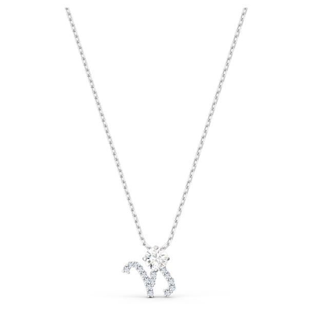 Zodiac II pendant, Capricorn, White, Mixed metal finish - Swarovski, 5563892