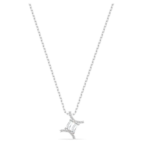 Colgante Zodiac II, Géminis, blanco, combinación de acabados metálicos - Swarovski, 5563893