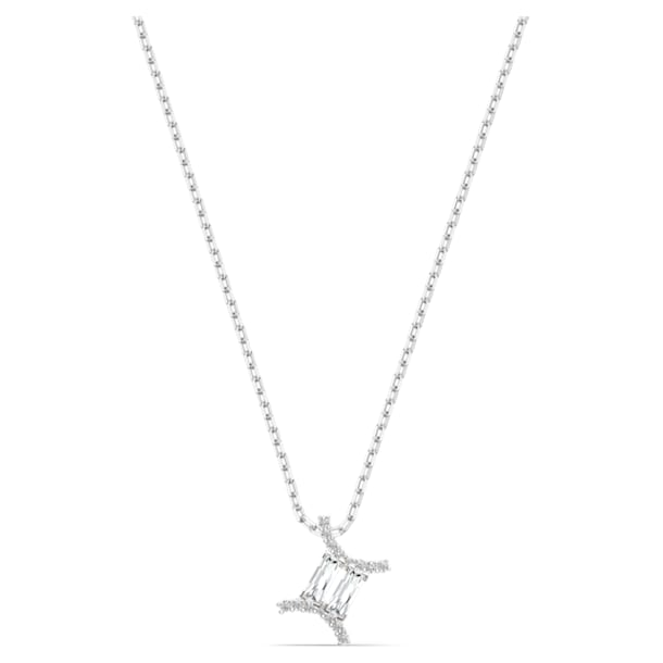 Zodiac II Pendant, Gemini, White, Mixed metal finish - Swarovski, 5563893