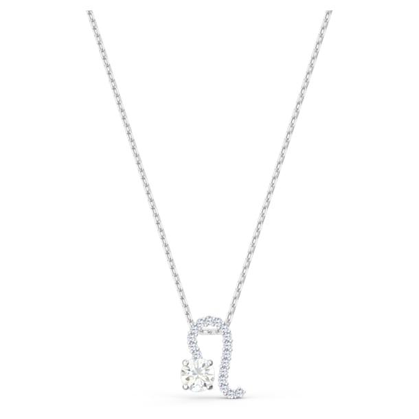 Zodiac II medál, oroszlán, fehér, vegyes fémbevonattal - Swarovski, 5563894