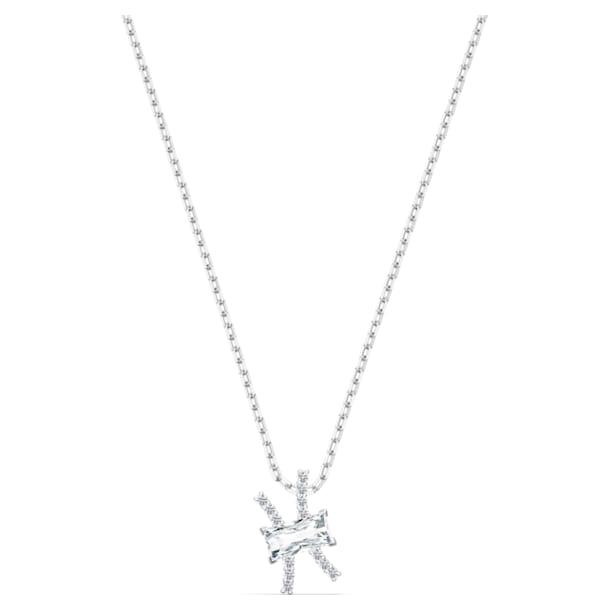 Zodiac II pendant, Pisces, White, Mixed metal finish - Swarovski, 5563896