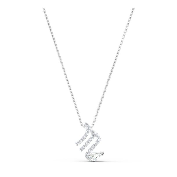 Wisiorek Zodiac II, Biały, Wykończenie z różnobarwnych metali - Swarovski, 5563898