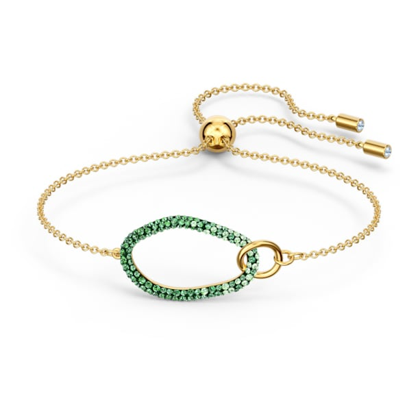 Braccialetto The Elements, verde, placcato color oro - Swarovski, 5563935