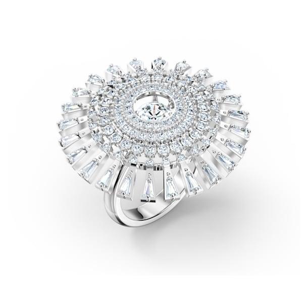Swarovski Sparkling Dance Dial Up 戒指, 白色, 镀铑 - Swarovski, 5564427