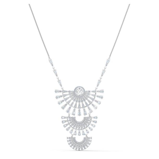 Swarovski Sparkling Dance Dial Up Necklace, Large, White, Rhodium plated - Swarovski, 5564432