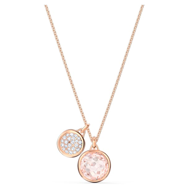 Colgante Tahlia Double, rosa, baño tono oro rosa - Swarovski, 5564908
