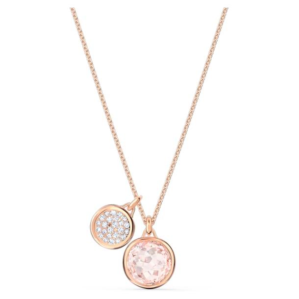 Tahlia pendant, Round, Pink, Rose gold-tone plated - Swarovski, 5564908