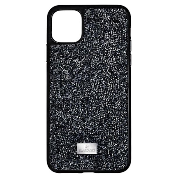 Glam Rock okostelefon tok, iPhone® 12 Pro Max, fekete - Swarovski, 5565177
