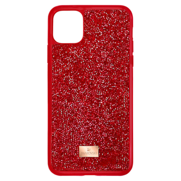 Glam Rock okostelefon tok, iPhone® 12/12 Pro, piros - Swarovski, 5565182