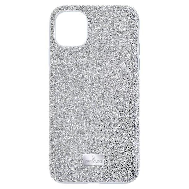 High smartphone case , iPhone® 12 Pro Max, Silver Tone - Swarovski, 5565184