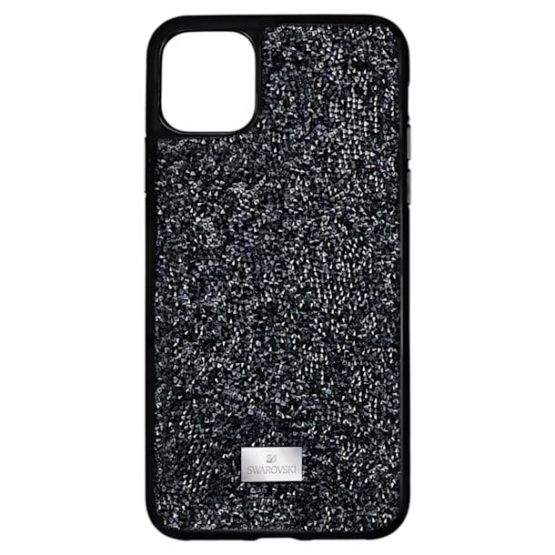 Glam Rock okostelefon tok, iPhone® 12/12 Pro, fekete - Swarovski, 5565188