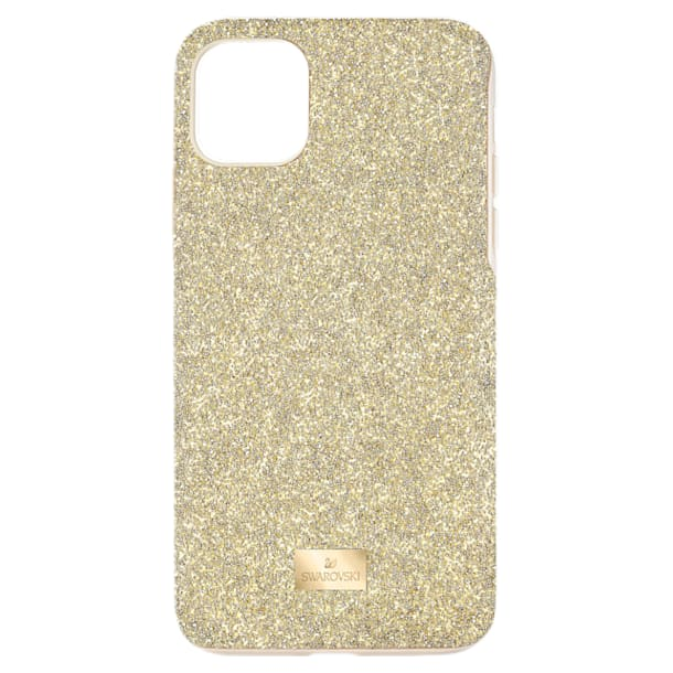 High 스마트폰 케이스, iPhone® 12/12 Pro, 골드 톤 - Swarovski, 5565190