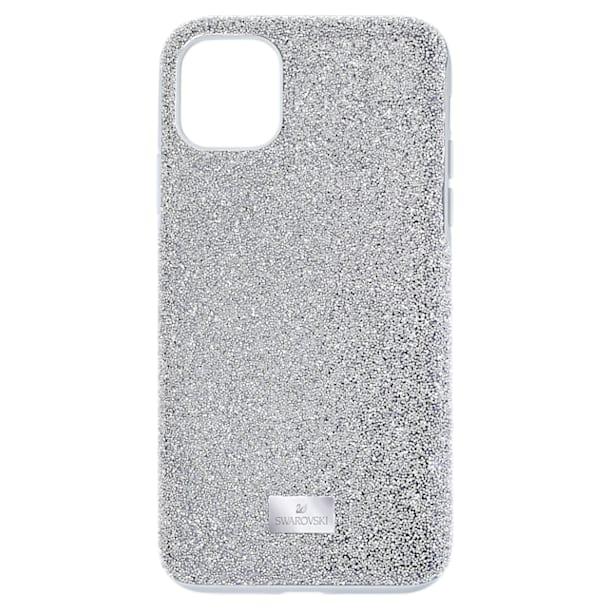 High Smartphone case, iPhone® 12/12 Pro, Silver tone - Swarovski, 5565202