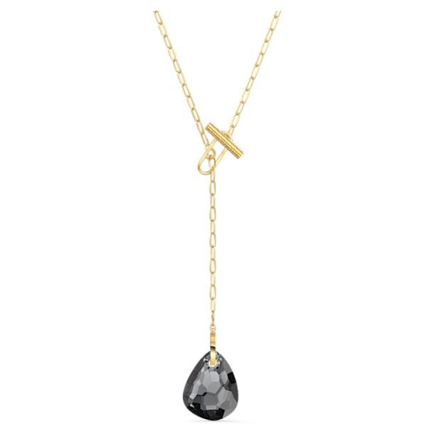 Collana a Y T Bar, grigio, placcato color oro - Swarovski, 5565997