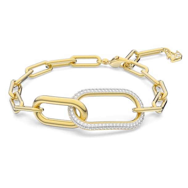 Time Bracelet, White, Mixed metal finish - Swarovski, 5566003