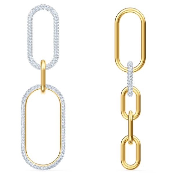 Time Pierced Earrings, White, Mixed metal finish - Swarovski, 5566004