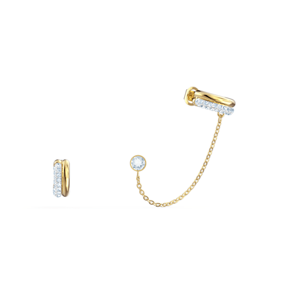 Ear Cuff Time, bianco, mix di placcature - Swarovski, 5566005
