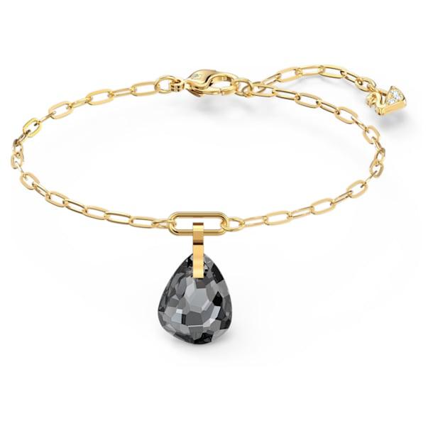 Bransoletka z zapięciem zakładkowym, szara, w odcieniu złota - Swarovski, 5566149