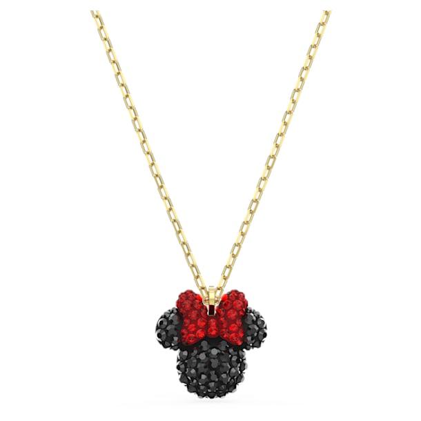 Minnie Pendant, Black, Gold-tone plated - Swarovski, 5566693