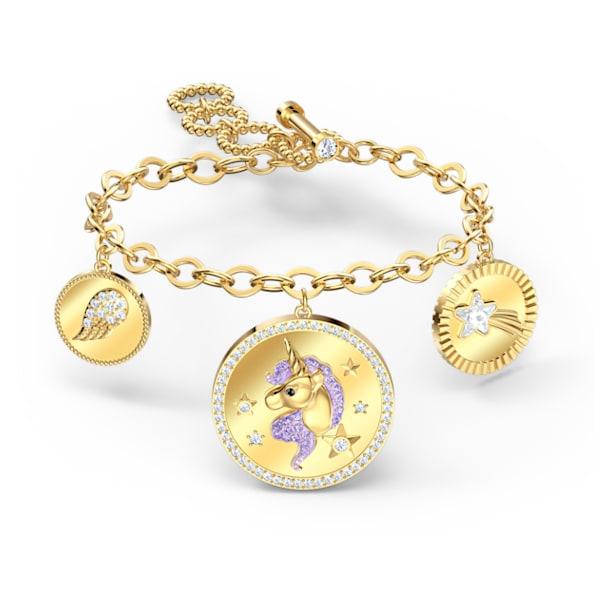 Out of this World Unicorn Bracelet, Medium, Purple, Gold-tone plated - Swarovski, 5566746