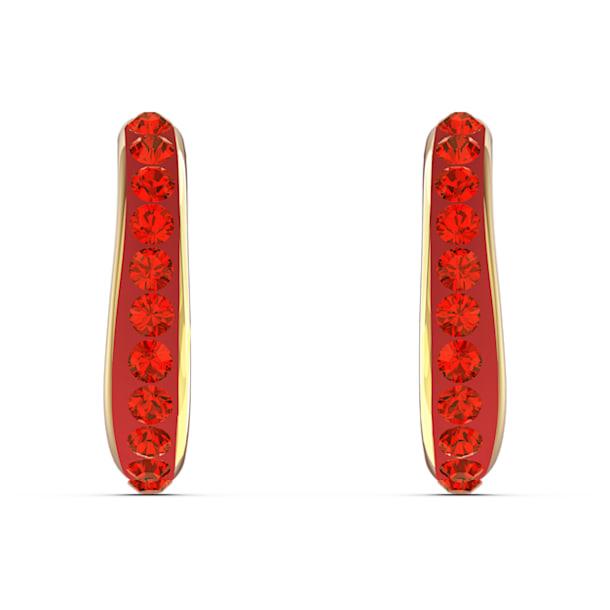 The Elements 穿孔耳环, 红色, 镀金色调 - Swarovski, 5567358