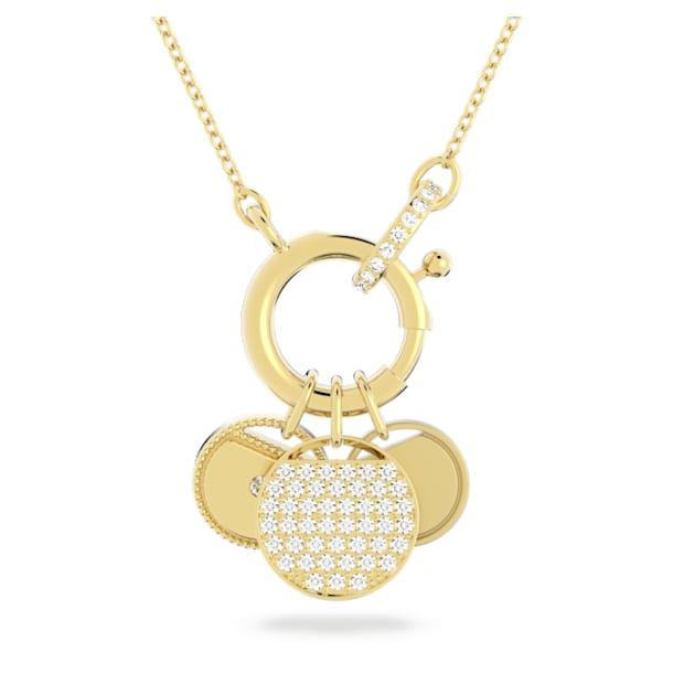 Collana Ginger Charm, bianco, placcato color oro - Swarovski, 5567530