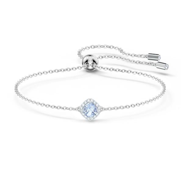 Angelic Cushion Bracelet, Blue, Rhodium plated - Swarovski, 5567933