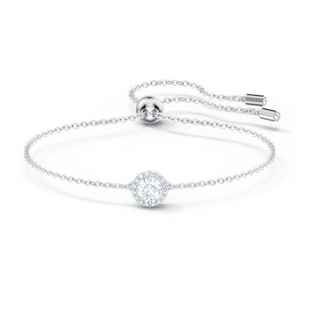 Angelic bracelet, Round, White, Rhodium plated - Swarovski, 5567934