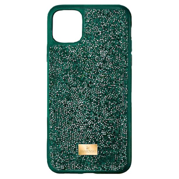 Pouzdro na chytrý telefon Glam Rock, iPhone® 12/12 Pro, zelené - Swarovski, 5567939