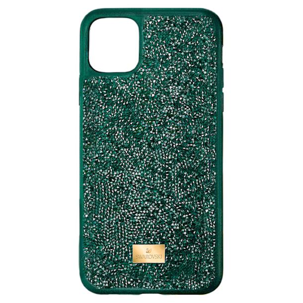 Glam Rock okostelefon tok, iPhone® 12 Pro Max, zöld - Swarovski, 5567940