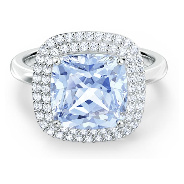 Angelic Ring, Blue, Rhodium plated - Swarovski, 5567955
