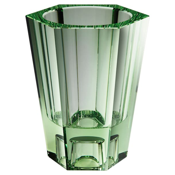 Lumen Reversible Vase, Large, Green - Swarovski, 5567987