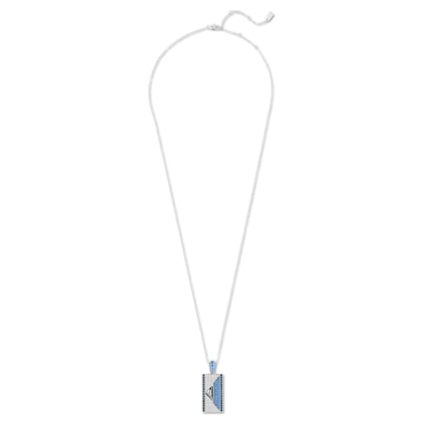 Karl Lagerfeld Geometric Necklace, Blue, Palladium plated - Swarovski, 5568605