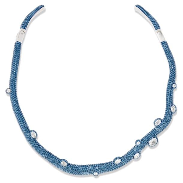 Tigris トルクネックレス, 水滴, ブルー, パラジウム・コーティング - Swarovski, 5568616