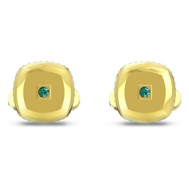 Theo Earth Element Cufflinks, Green, Gold-tone plated - Swarovski, 5569062