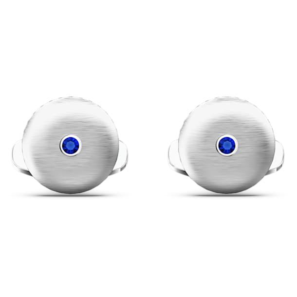 Theo Water Element Cufflinks, Blue, Rhodium Plated - Swarovski, 5569063