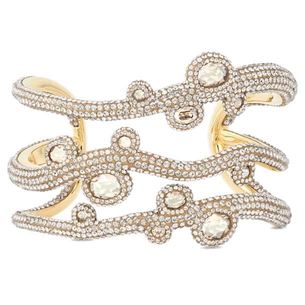 Manchette Tigris, blanc, métal doré - Swarovski, 5569069