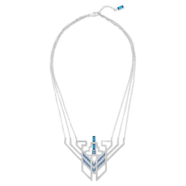 Collier Karl Lagerfeld Statement, bleu, métal plaqué palladium - Swarovski, 5569074